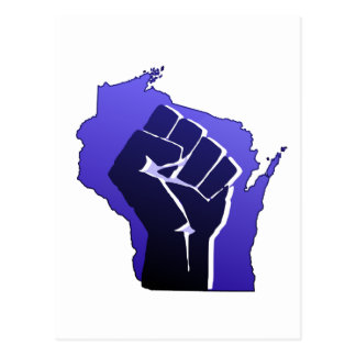 Cartão Postal Punho da solidariedade de Wisconsin