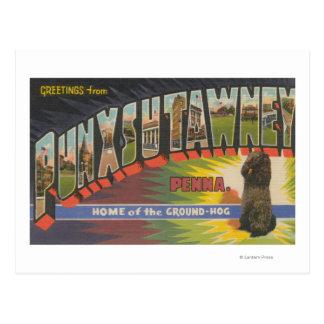 Cartão Postal Punxsutawney, Pensilvânia (Groundhog)