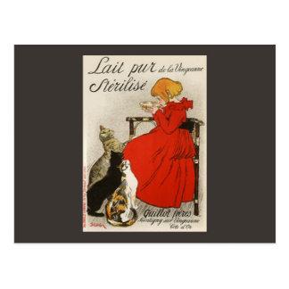 Cartão Postal Pur Stérilisé do Lait de Steinlen
