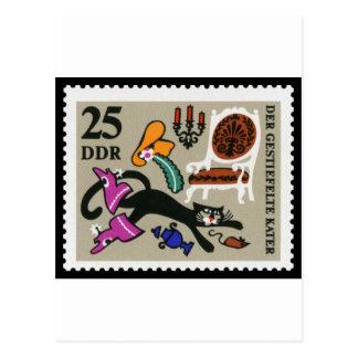 Cartão Postal Puss nas botas 25 RDA 1968