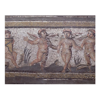 Cartão Postal Putti três de dança acompanhado de um jogo