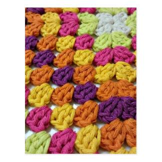 Cartão Postal Quadrado da avó do Crochet