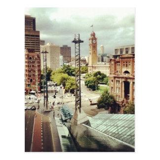 Cartão Postal Quadrado da estrada de ferro de Sydney