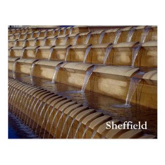 Cartão Postal Quadrado da polia de Sheffield
