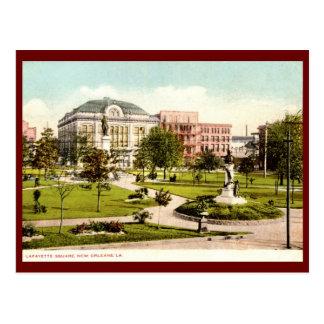 Cartão Postal Quadrado de Lafayette, vintage 1907 de Nova
