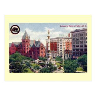Cartão Postal Quadrado de Lafayette, vintage do búfalo