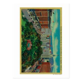 Cartão Postal Quadrado de Pershing que mostra a Los Angeles