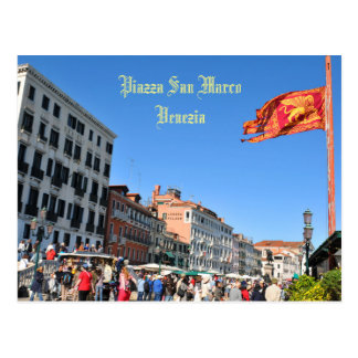 Cartão Postal Quadrado de San Marco em Veneza, Italia