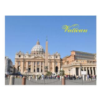 Cartão Postal Quadrado de San Pietro no vaticano, Roma, Italia
