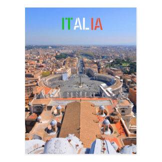 Cartão Postal Quadrado de St Peter no vaticano, Roma, Italia
