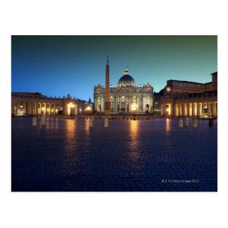 Cartão Postal Quadrado de St Peters, Roma, Italia