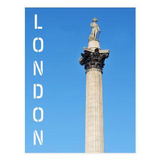 Cartão Postal Quadrado de Trafalgar em Londres, Reino Unido