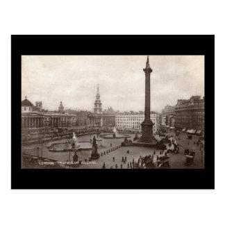 Cartão Postal Quadrado de Trafalgar, vintage de Londres