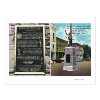 Cartão Postal Quadrado do monumento e museu histórico de Erwin