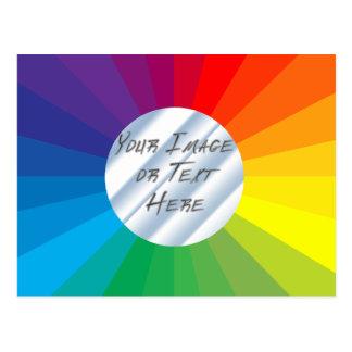 Cartão Postal Quadro customizável do círculo: Coleção do