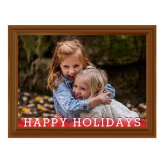 Cartão Postal Quadro de madeira da foto da sequóia vermelha da
