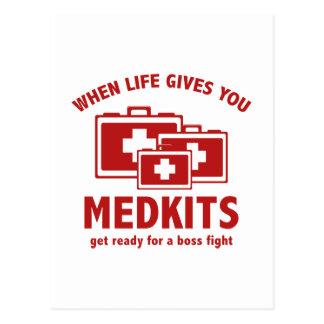 Cartão Postal Quando a vida lhe der Medkits