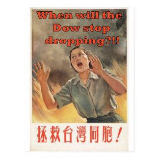 Cartão Postal Quando deixar cair da parada do dow?!!