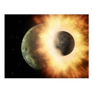 Cartão Postal Quando os planetas colidirem