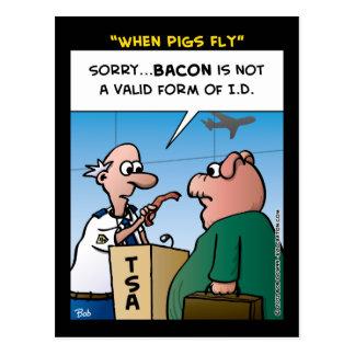 """Cartão Postal """"Quando os porcos voarem """""""