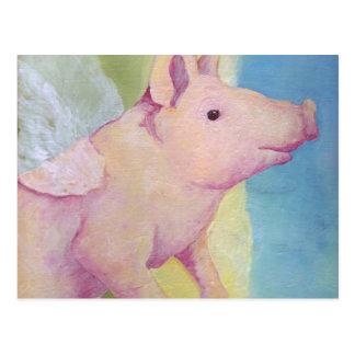 Cartão Postal Quando os porcos voarem