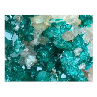 Cartão Postal Quartzo dos doces de rocha da cerceta