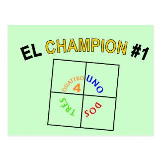 Cartão Postal Quatro campeão quadrado #1