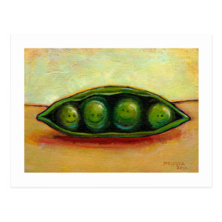 Cartão Postal Quatro ervilhas em uma arte original original do