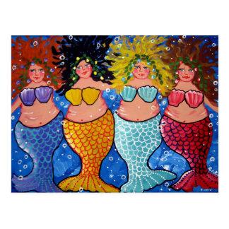 Cartão Postal Quatro sereias carnudos
