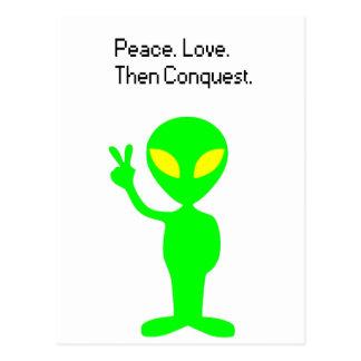 Cartão Postal Que aliens estão pensando desenhos animados