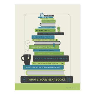 Cartão Postal Que é seu livro seguinte?