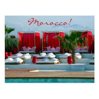 """Cartão Postal """"Que é vida"""", piscina do luxo de Marrocos"""