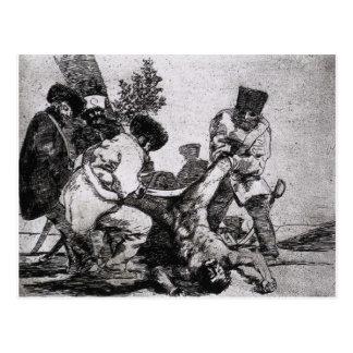 Cartão Postal Que mais podem um fazer? por Francisco Goya