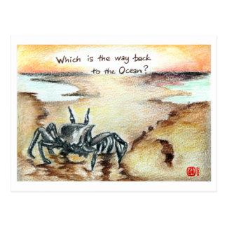 Cartão Postal Que maneira é o oceano?