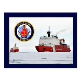 Cartão Postal Quebra-gelo HEALY de USCG, mar de Beaufort, Alaska