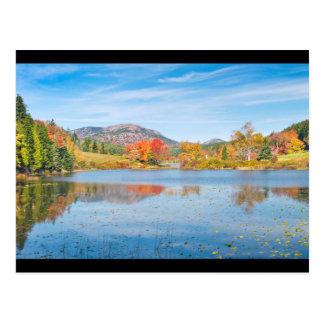 Cartão Postal Queda no parque nacional Maine do Acadia longo da