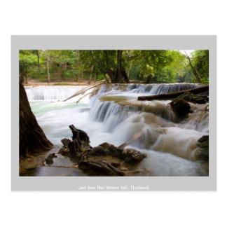 Cartão Postal Queda Tailândia da água do Noi do Sao de Jed