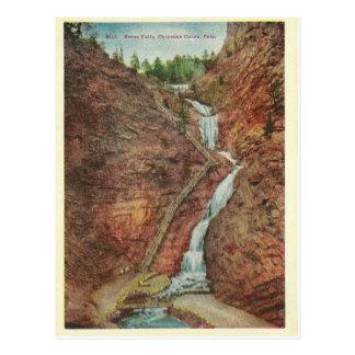 Cartão Postal Quedas da água de Colorado do vintage