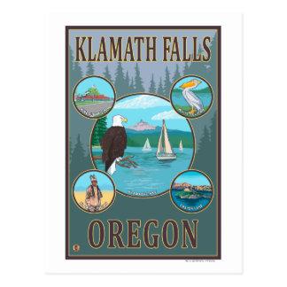 Cartão Postal Quedas de Klamath, poster de viagens de