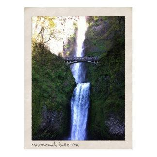 Cartão Postal Quedas de Multnomah, Oregon