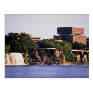 Cartão Postal Quedas de Rideau e construção de Pearson, Ottawa,