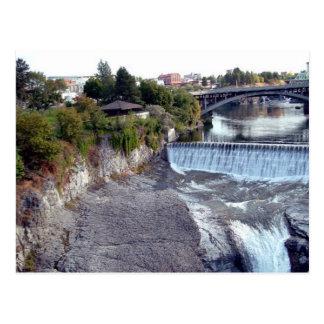 Cartão Postal Quedas de Spokane