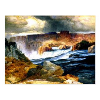 Cartão Postal Quedas do Shoshone, rio Snake, Idaho