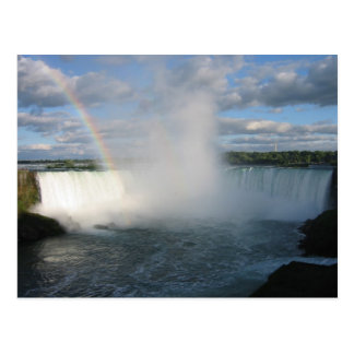 Cartão Postal Quedas e arco-íris da ferradura do lado canadense