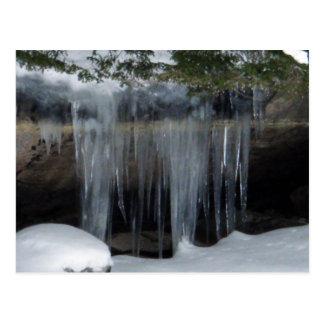 Cartão Postal Quedas e rochas de gelo