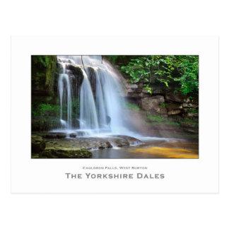 Cartão Postal Quedas ocidentais de Burton, os Dales de Yorkshire