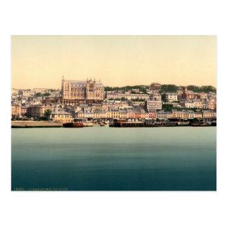 Cartão Postal Queenstown - Cobh, cortiça Ireland do vintage