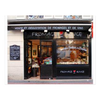 Cartão Postal Queijo do ~ do vermelho de Fromage e vinho Paris