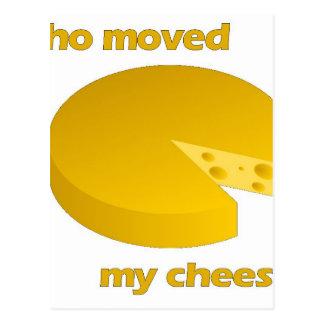 Cartão Postal Quem moveu o queijo