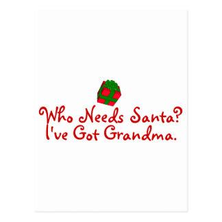 Cartão Postal Quem precisa a avó obtida I've do papai noel